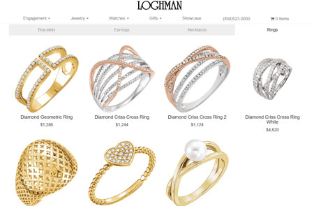 Luxury Jewelry Retail Site for Loghman Jewelers